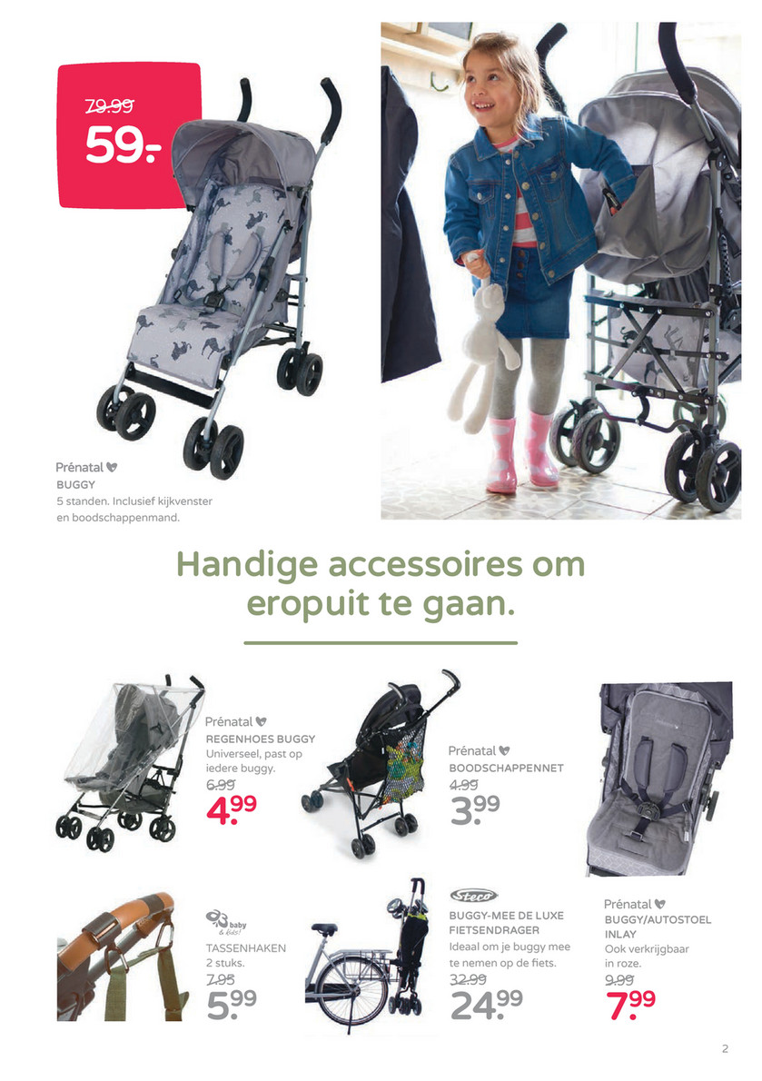 Prénatal Maart Folder 2018 1 A3 Luxe Tassenhaken 2 Stuks